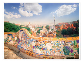 Premium poster  The Park Guell in Barcelona