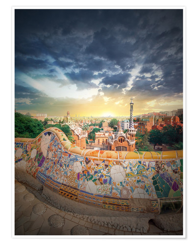 Premium poster The famous park Guell in Barcelona