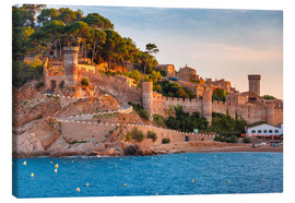 Canvas print  Tossa de Mar on Costa Brava, Catalunya