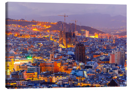 Canvas print  Aerial view Barcelona