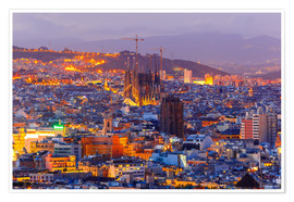 Premium poster Aerial view of Barcelona