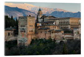 Acrylic print  Alhambra palace in Granada