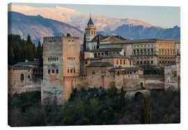 Canvas print  Alhambra palace in Granada