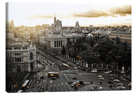 Canvas  The city of Madrid in Spain