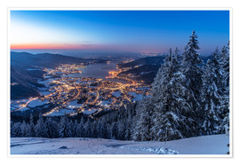 Premium poster Winter at Lake Tegernsee