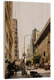 Wood print  Downtown Los Angeles III - Pascal Deckarm