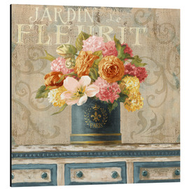 Danhui Nai - Tulips in Teal and Gold Hatbox