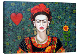 Canvas print  Frida, Queen of Hearts - Madalena Lobao-Tello