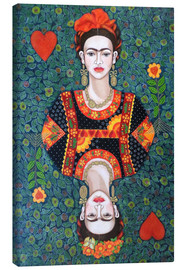 Canvas print  Frida, queen hearts - Madalena Lobao-Tello