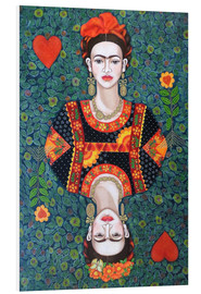 Foam board print  Frida, queen hearts - Madalena Lobao-Tello