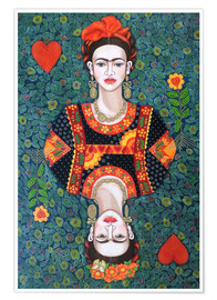 Poster  Frida, queen hearts - Madalena Lobao-Tello