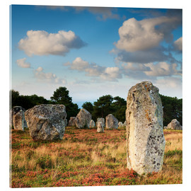Acrylic print  Megaliths in Carnac