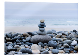 Acrylic print  beautiful stone at the beach