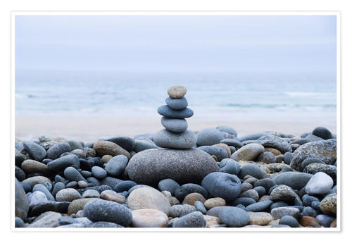 be0836c21108c beautiful stone at the beach Posters and Prints