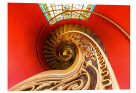 Foam board print  Spiral staircase in Brittany