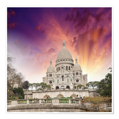 Premium poster Sacred Heart Cathedral in Montmartre