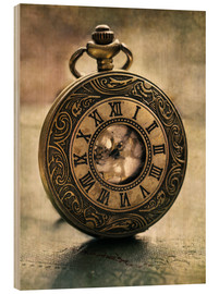 Wood print  An Old Pocket Watch - Jaroslaw Blaminsky