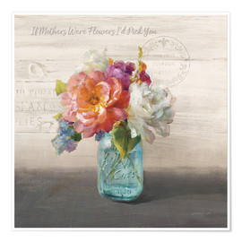 Premium poster French Cottage Bouquet I