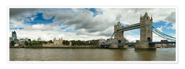 Premium poster  Panorama Tower Bridge and Tower of London - Circumnavigation