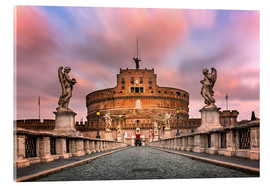 Acrylic print  Ponte Sant'Angelo and Castel Sant'Angelo