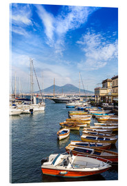 Acrylic print  Port of Naples and Mount Vesuvius