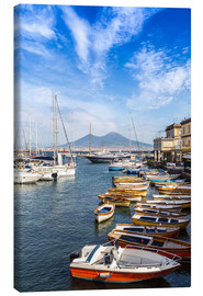 Canvas print  Port of Naples and Mount Vesuvius