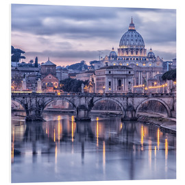 Foam board print  Rome at dusk