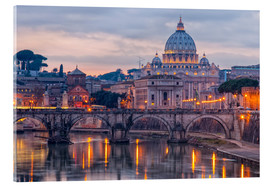Acrylic print  The Basilica of the Vatican of St. Peter