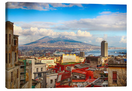 Canvas print  Naples and Mount Vesuvius