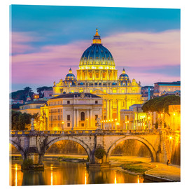 Acrylic print  Bridge of Hadrian and St. Peter's Cathedral