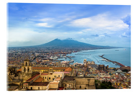 Acrylic print  Naples and Mount Vesuvius