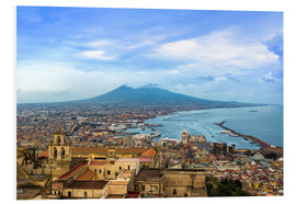 Foam board print  Naples and Mount Vesuvius
