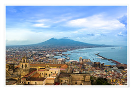 Premium poster  Naples and Mount Vesuvius