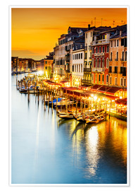 Premium poster  Grand Canal at dusk