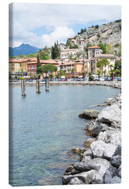 Canvas print  The village of Torbole