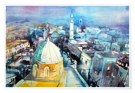 Premium poster  Bethlehem, view from the Syrian Orthodox Church - Johann Pickl