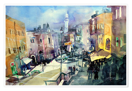 Premium poster Bethlehem, view to Omar Mosque