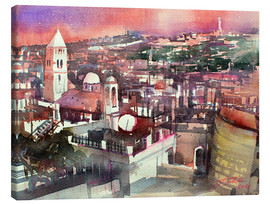 Canvas  Jerusalem, Old Town with Church of the Redeemer - Johann Pickl