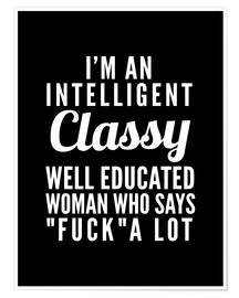 Premium poster Intelligent, classy, well educated woman