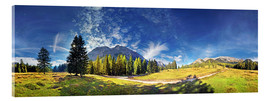 Acrylic print  360 ° mountain panorama in the Wettersteingebirge south face with Mieminger chain - Michael Rucker