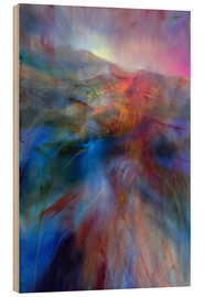 Wood print  in the color country - Annette Schmucker