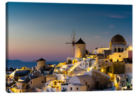Canvas print  Oia at sunset, Santorini, Greece - Circumnavigation