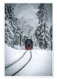 Premium poster Brocken steam locomotive