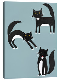 Canvas print  Black cats with white paws - Nic Squirrell
