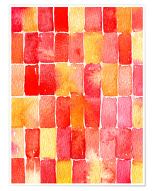 Premium poster Geometric watercolor