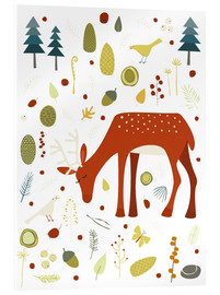 Acrylic print  Pretty deer in the autumn forest - Nic Squirrell