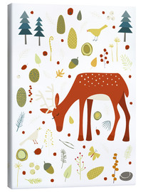 Canvas  Pretty deer in the autumn forest - Nic Squirrell