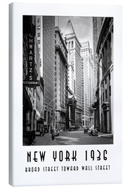 Canvas print  Historic New York Broad Street to Wall Street - Christian Müringer
