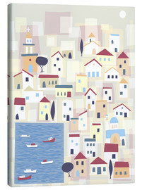 Canvas  Colorful houses on the island Chalki - Nic Squirrell