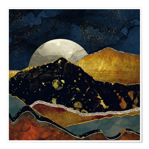Premium poster Bronze Night Landscape